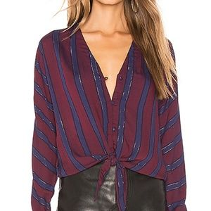 RAILS Sloane Blouse Janeiro Striped Top Shirt L